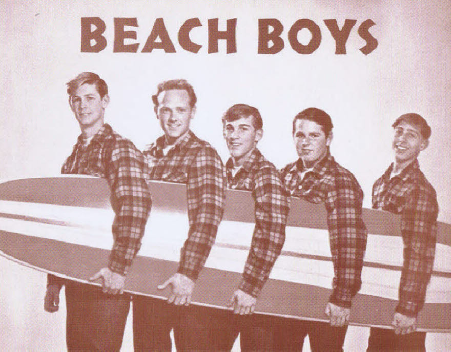 Beach Boys / Surfboard group shot