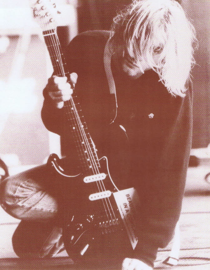 Kurt Cobain / Guitar close up