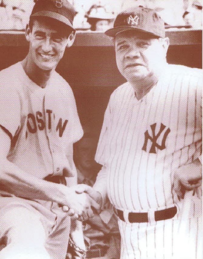 Ted Williams and Babe Ruth / Shaking Hands