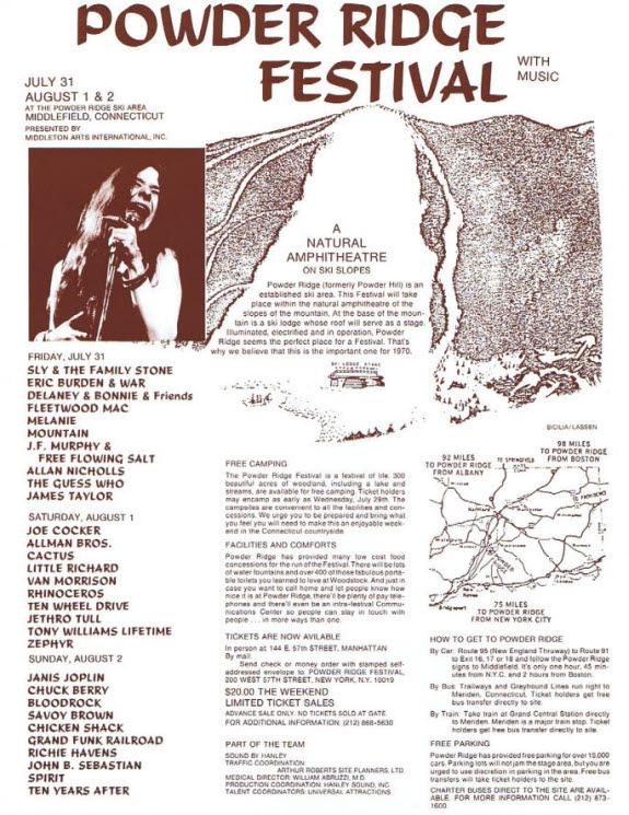 Powder Ridge Festival / poster